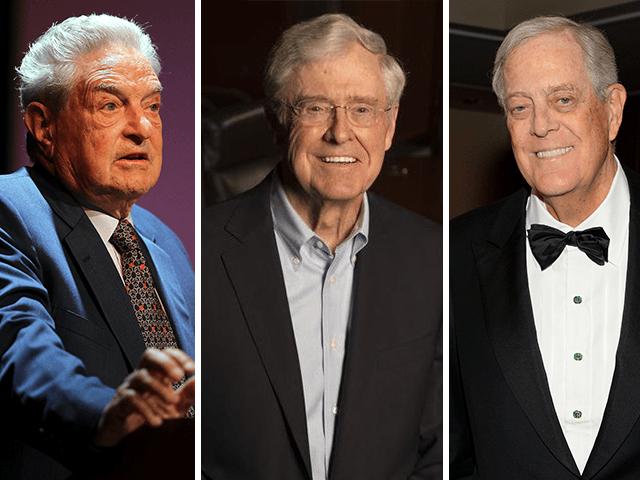 George Soros,  Charles Koch, David Koch   (Getty / Robert Deutsch, USA TODAY / AP)