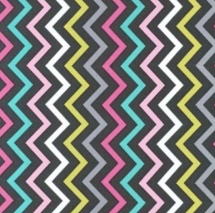 CONVERTIBLE CARSEAT COVER, GREY - PINK CHEVRON