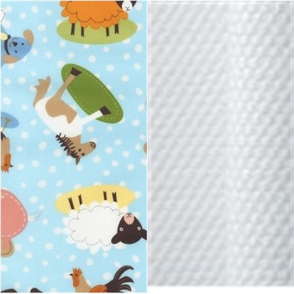 PEG PEREGO CARSEAT COVER AT THE FARM-WHITE PIQUE