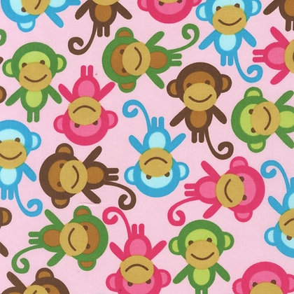 CONVERTIBLE CARSEAT COVER, PINK MONKEYS