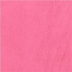 STROLLER BASSINET SHEET, MINKY FUR FUSCHIA