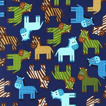 STROLLER BASSINET SHEET, HORSES