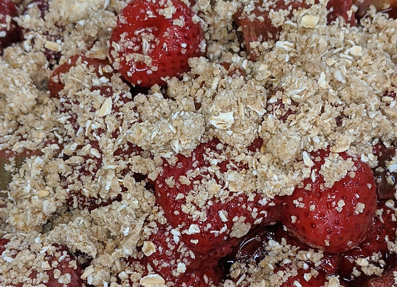 Strawberry Rhubarb Kugel