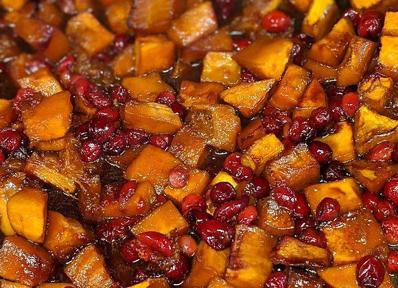 Honey Maple Cranberry Butternut Squash