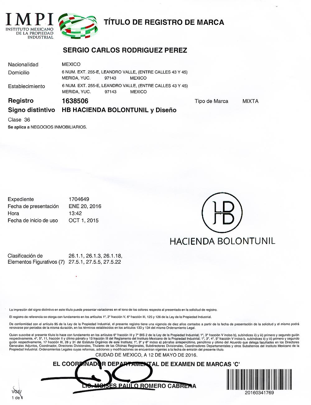 Registro de Marca HB
