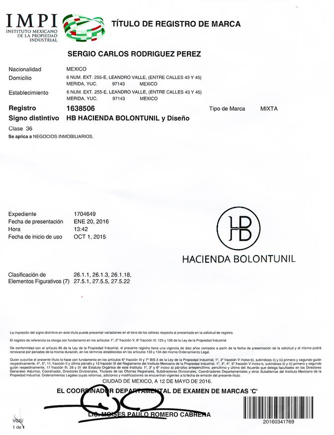 Registro de Marca HB- IMPI