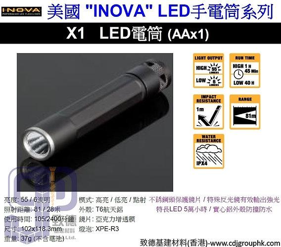 """美國""""INOVA""""-LED手電筒系列-LED電筒X1(AAx1)-X1B"""