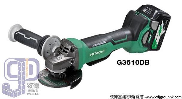 """日本""""HIKOKI""""高壹(HITACHI日立)-電動工具-36V鋰電充電4吋角磨機<無碳刷>(淨機)-G3610DB"""
