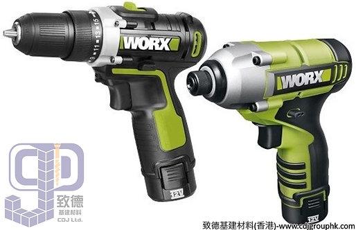 """德國""""WORX""""威克士-電動工具-12V鋰電組合工具(12V雙速電鑽+起子機)-WU913.1"""