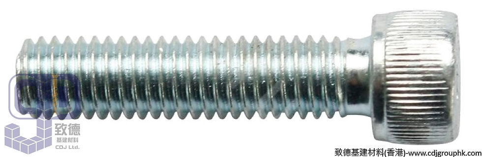 中國-電鍍/電叻/白叻(Zinc Plated)-內六角杯頭螺絲(Hexagon Socket Head Cap Screw)-ZPHSHCS