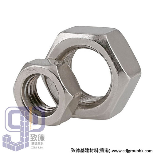 中國-Stainless Steel-304/316/A2-70/A2-80/A4-70/A4-80-六角絲帽(Hexagon Nut)-SSHN