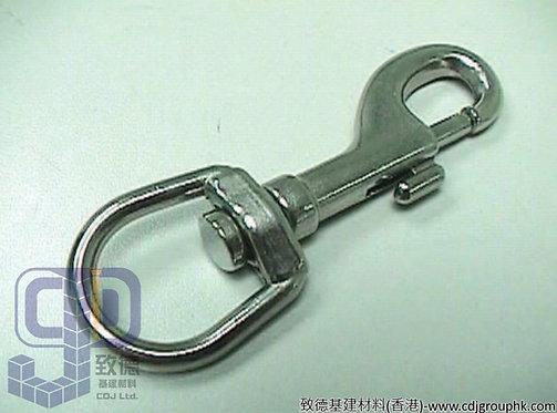 中國-白鋼C型活動鎖匙扣/旋轉狗勾扣(1/2寸.5/8寸.3/4寸)-7542340(AE)