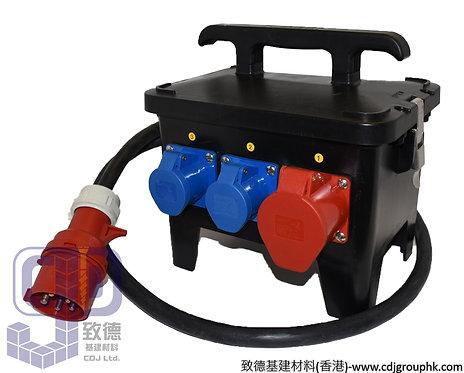 """中國""""APEKS""""-380V+220V防水蘇60A配電膠箱32A-5Px1位+16A-3Px5位連RCD+MCB(IP44)-AP1210"""