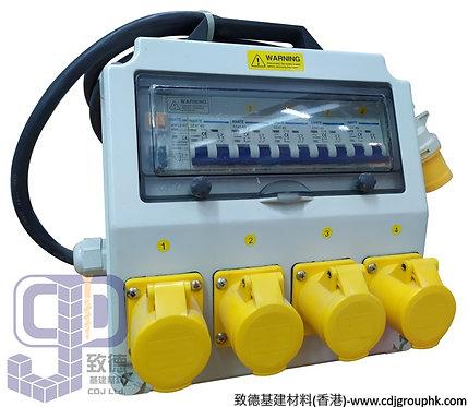 """中國""""APEKS""""-110V或220V防水蘇配電膠箱16A-3Px4位連RCD+MCB(IP44)-941211(941212)"""