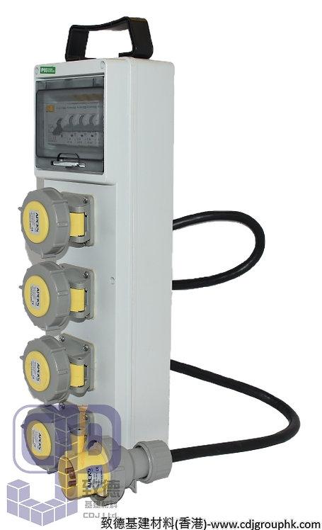 """中國""""APEKS""""-110V防水蘇40A配電膠箱16A-3Px4位連RCD+MCB(IP67)-940214"""