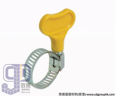中國-黃柄手擰喉箍(20mm,27mm,100個1包)-150260(AE)