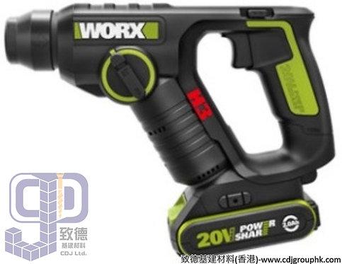 """德國""""WORX""""威克士-電動工具-20V輕裝兩用油壓鑽-WU380.4"""