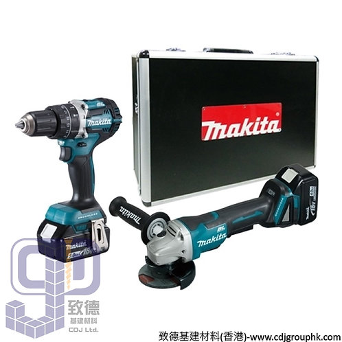 """日本""""MAKITA""""牧田-電動工具-充電式工具套裝(衝撃電鑽+角向磨光機)-DLX2215TX1"""