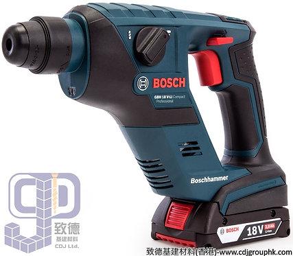 """德國""""BOSCH""""博世-電動工具-鎚鑽(2x2.0Ah)四坑-GBH 18V-Li compact"""