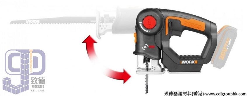 """德國""""WORX""""威克士-電動工具-20V鋰電多功能機迷你電鋸(積梳/老虎鋸)-WX550.1"""