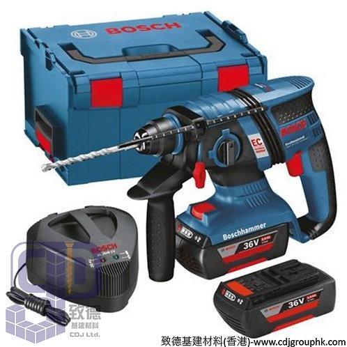 """德國""""BOSCH""""博世-電動工具-Compact Professional(2x2.0Ah)鎚鑽/SDSplus四坑充電式錘鑽<無碳刷>-GBH 36 V-EC"""