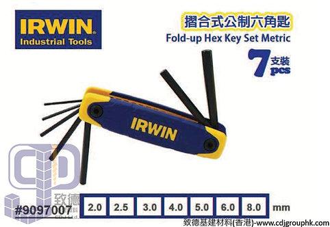 """英國""""IRWIN""""-摺合式六角匙(7支裝-9097007)-50080(AE)"""