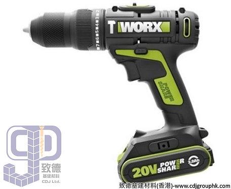 """德國""""WORX""""威克士-電動工具-20V鋰電雙速衝擊電鑽(淨機)-WU179.9"""