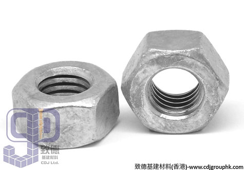 中國-熱浸/鉛水(Hot Dip Galvanized)-Grade 8/10/12六角絲帽(Hexagon Nut)-HDGHN