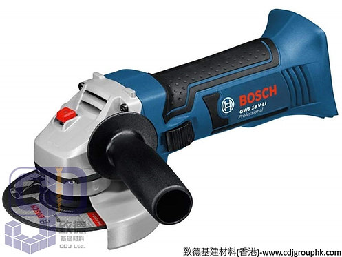 """德國""""BOSCH""""博世-電動工具-4吋充電角磨機Professional-GWS 18V-Li(淨機)"""