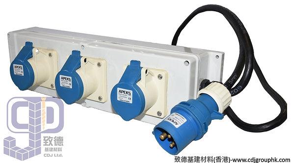 """中國""""APEKS""""-220V防水蘇配電膠箱16A-3Px3位(IP44)-940205"""