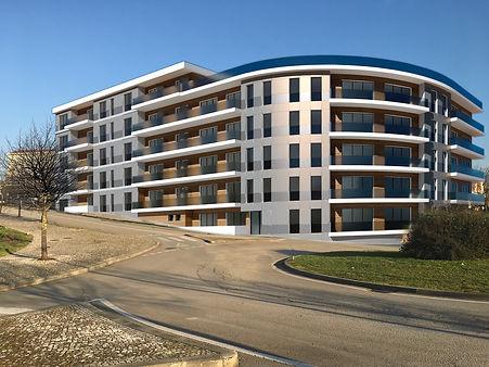 carré plié architecture intérieur immeuble standing 3D image portugal vale de cambra construction