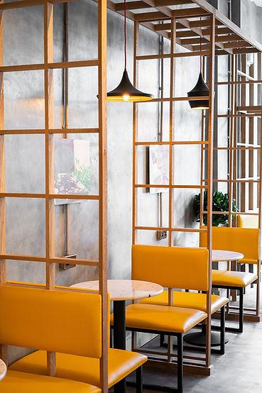 carré plié architecture intérieur restaurant décoration design gauffre