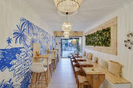 carré plié architecture pokawa intérieur design restaurant poke