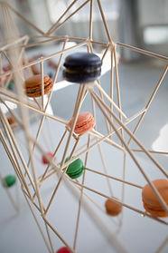 carré plié architecture design bocuse macaron dessert culinaire