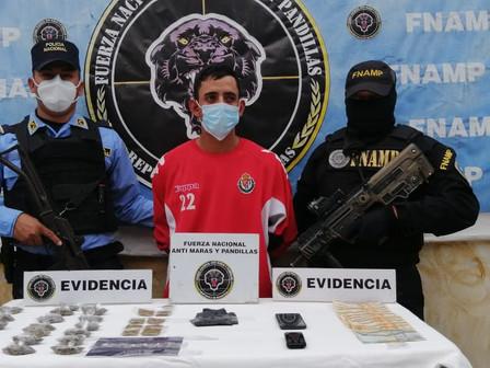 FNAMP detienen a distribuir de drogas en la Col. Fuerzas Armadas en Comayagua