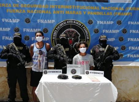 """FNAMP captura a dos miembros de la Mara Salvatrucha MS-13 conocidos como """"Maluma"""" y """"Jona"""""""