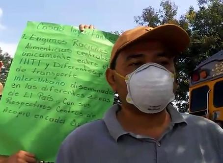 Sector transporte de La Paz realiza toma de carretera en la CA-7, salida a Comayagua (VIDEO)