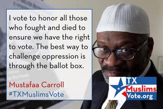 Mustafaa Carroll Texas Muslims Vote.png
