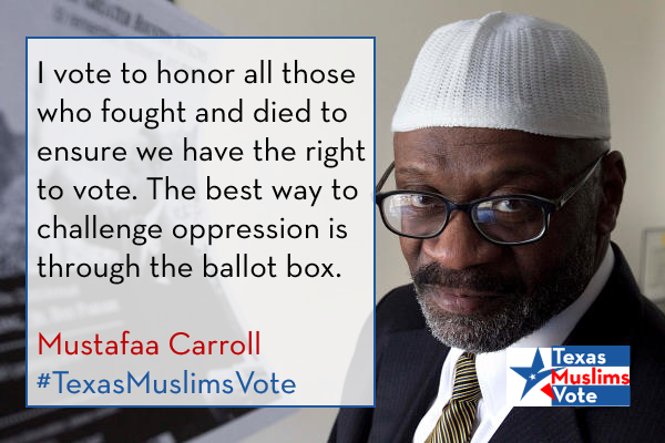 Mustafaa Carroll Texas Muslims Vote.png