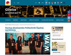gliwice.eu 22.05.2019 - Startup absolwentów Politechniki Śląskiej wyróżniony  <br/>  czytaj więcej…