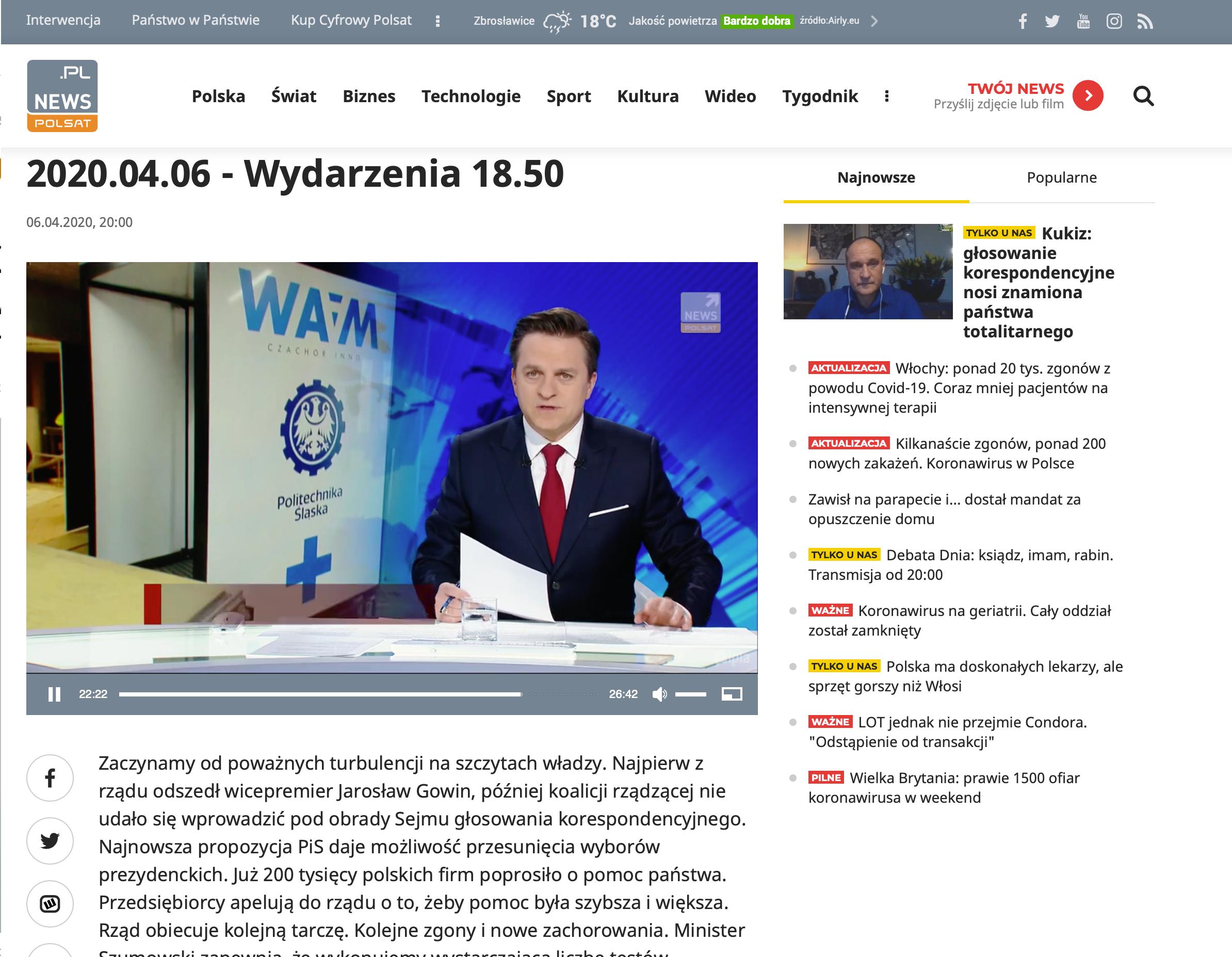 POLSAT NEWS 6.04.2020