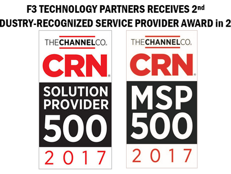 F3 Technology Partners Named to CRN's 2017 Solution Provider 500 List