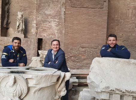 RUGBY E CULTURA VANNO A BRACCETTO NEL 'IV TEMPO': GORI E FUSER IN VISITA AI MUSEI ROMANI