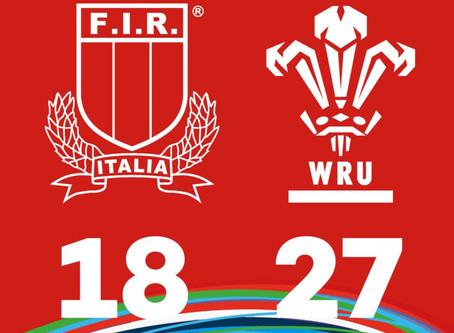 La nazionale Under 18 chiude con una sconfitta, 27-18 per il Galles