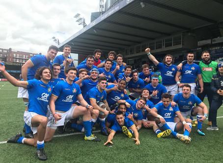 U18s Six Nation Festival: l'Italia batte l'Inghilterra 32-30