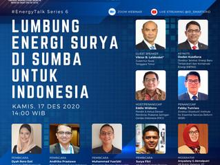 [Energy Talk Series 6] LUMBUNG ENERGI SURYA DI SUMBA UNTUK INDONESIA