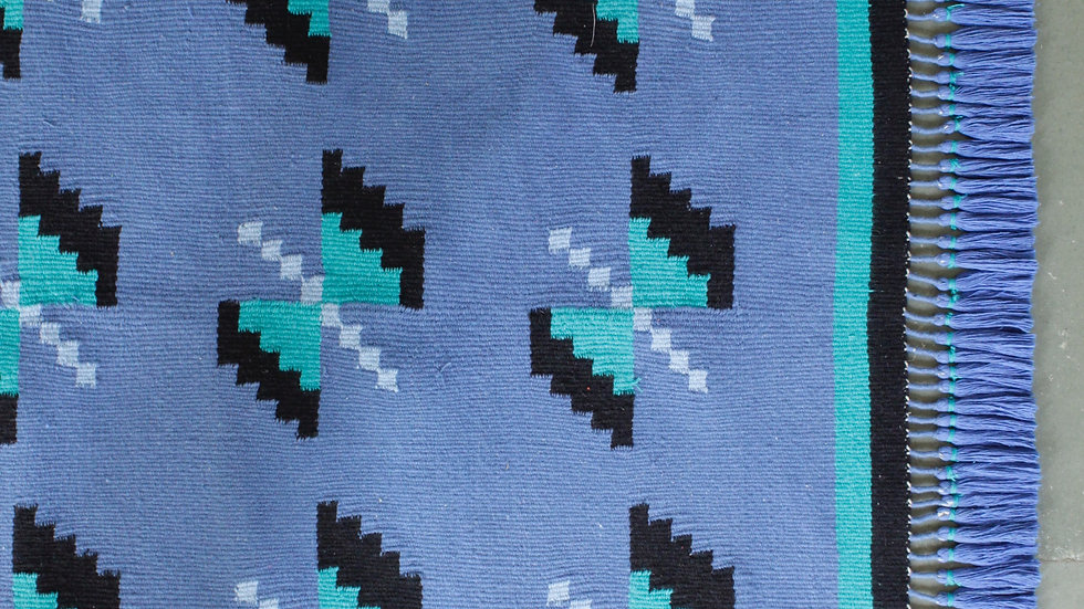 Blue and Turquoise Titli Durrie