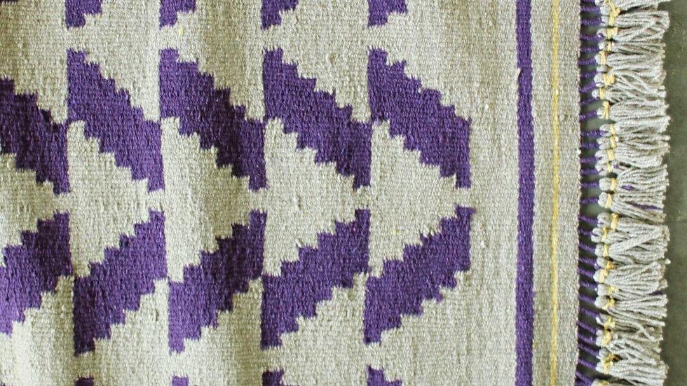 Khaki and Purple Tricone Patti Durrie