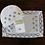 Thumbnail: Rose Blue Embroidered Tea Linen (in white linen)