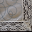 Thumbnail: Abstract Stem Stitch Embroidered Tea Linen (in white linen)